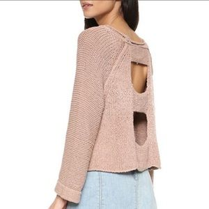 Free People Endless Stories Toasted Almond Sweater